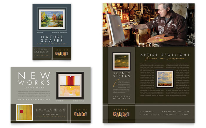 showcase an art gallery with professional design