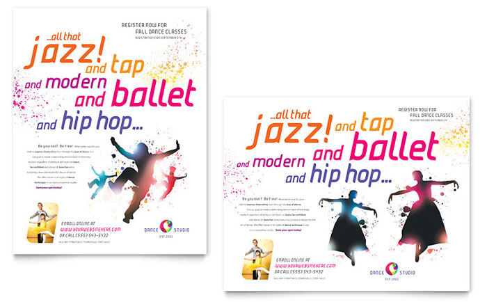 Dance Studio Poster Design