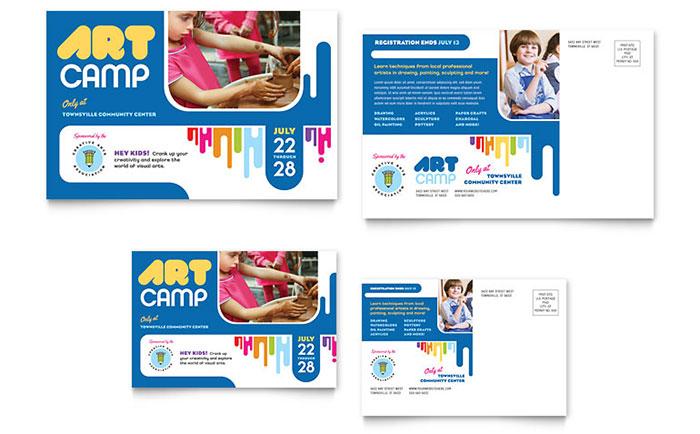 Kid's Art Camp - Postcard Sample