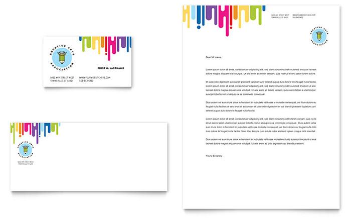 Kid's Art Camp - Letterhead & Business Card Sample