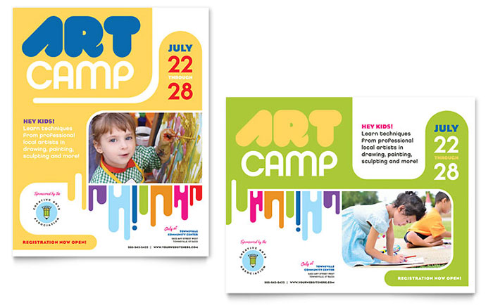 Kid's Art Camp - Poster Sample