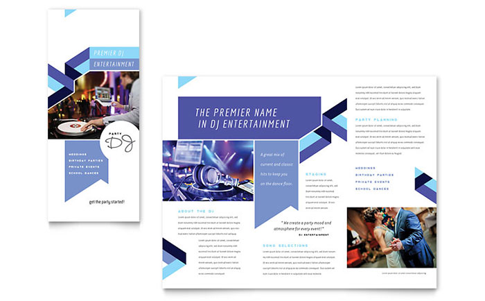 DJ - Brochure Design Example