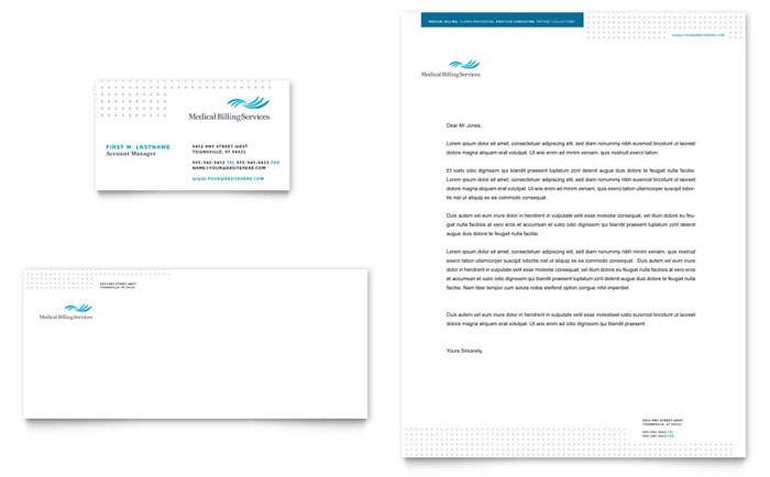 Medical Billing & Coding Stationery Design