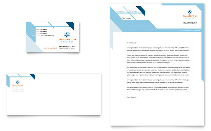Medical Transcription Stationery Design