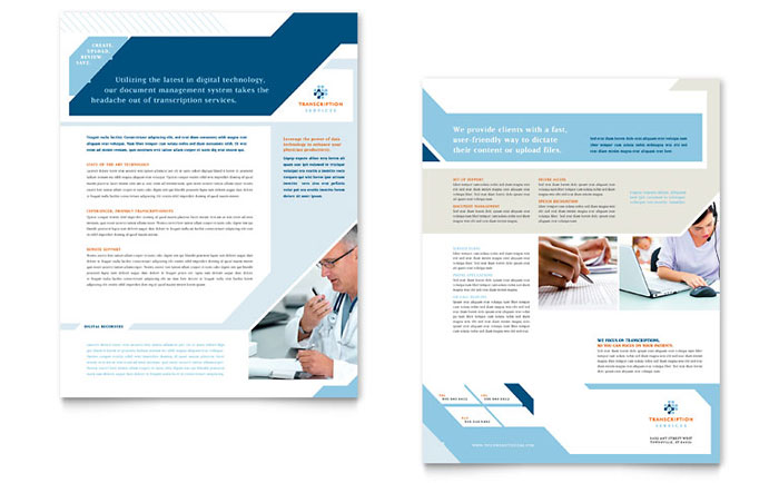 Medical Transcription Datasheet Design