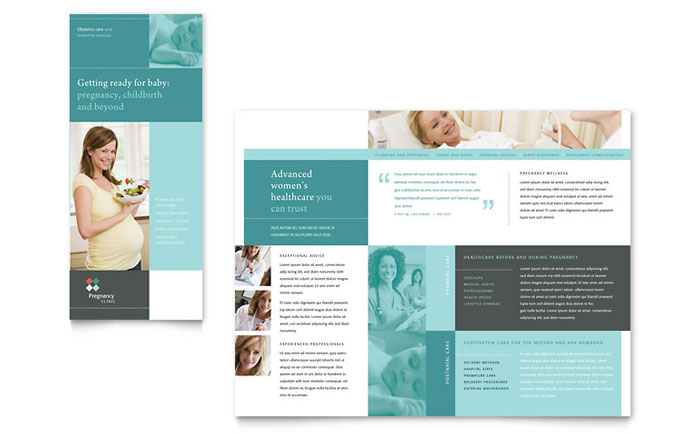 Pregnancy & Childbirth Clinic Brochure Design