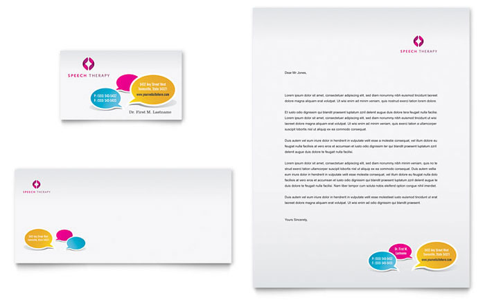 Speech Therapy Stationery Example