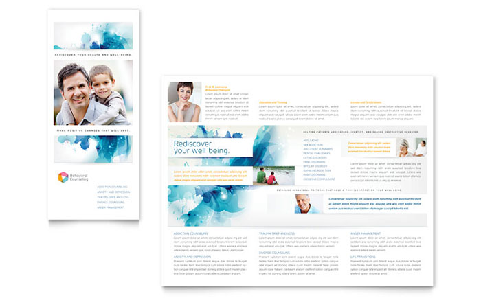Tri-fold Brochure Sample - Behavioral Counseling