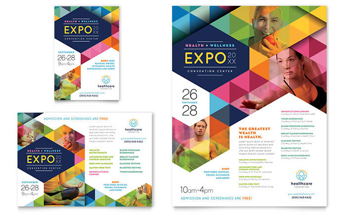 Promotional Marketing Flyers & Brochures For A Health Fair