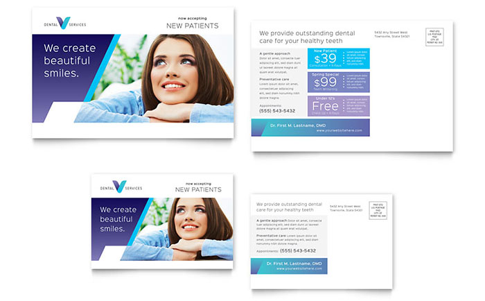 Dental Office Direct Mail Postcard Design Idea