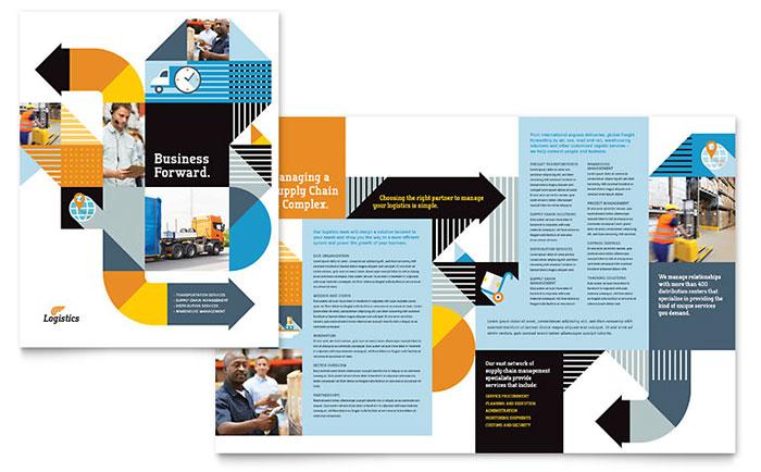 Logistics Amp Warehousing Brochure Template Design