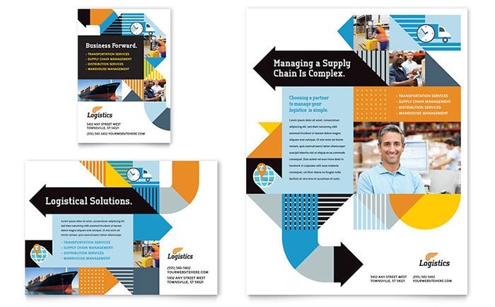 Logistics Management - Flyer & Ad Design Example