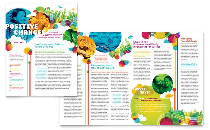 Youth Program Newsletter Design Example