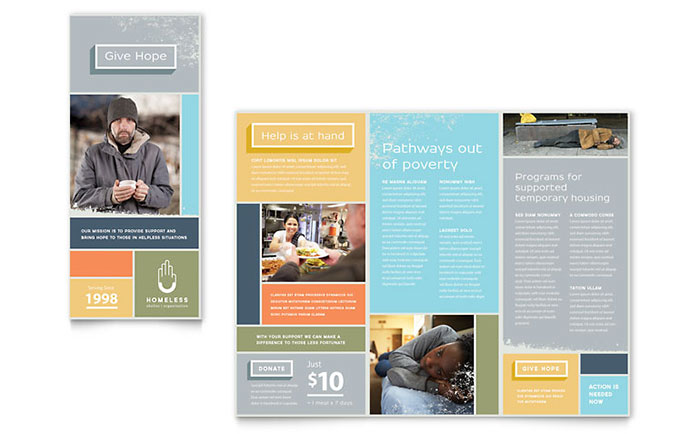 Homeless Shelter - Brochure Design Sample