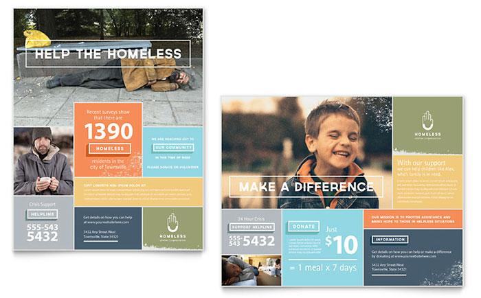 Homeless Shelter - Poster Design Sample