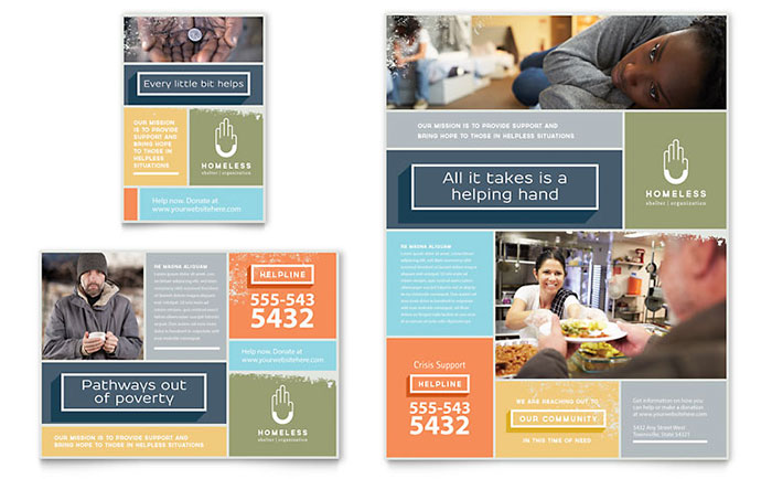 Homeless Shelter - Flyer & Advertisements Design Sample