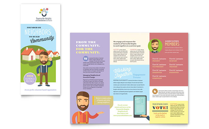 Homeowners Association Newsletter Marketing  Design  Layout