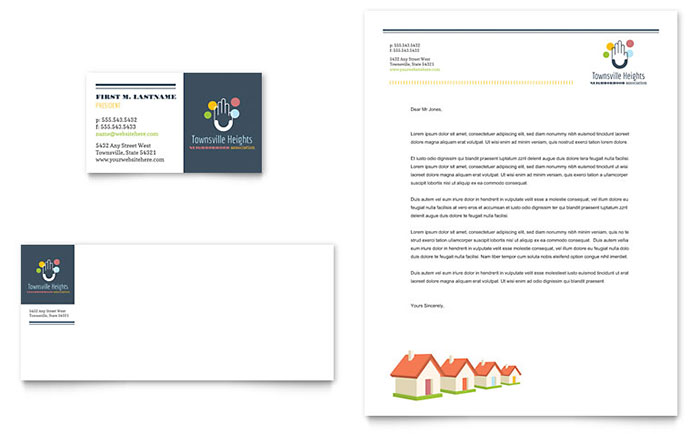 Homeowners Association - Sample Letterhead Design