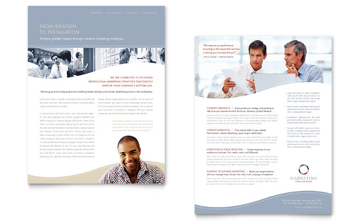 Marketing Consulting Datasheet Design