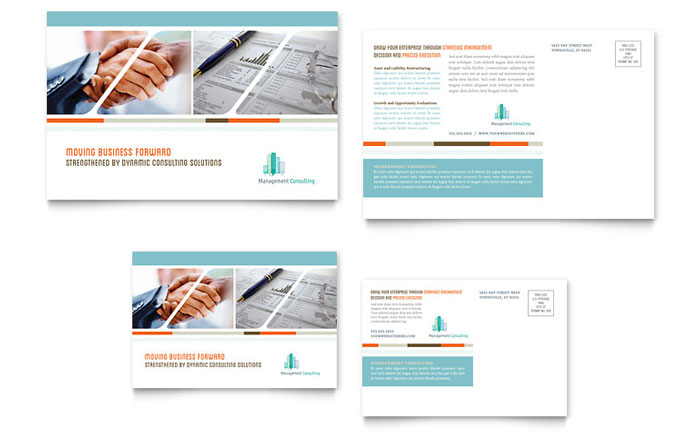 Management Consulting Postcard Design