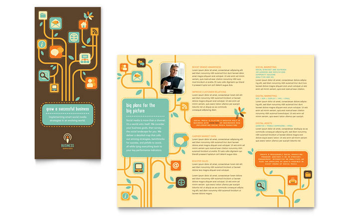 Business Services Tri Fold Brochure Design