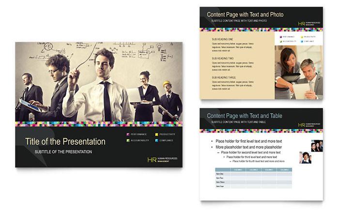 Human Resource Management - PowerPoint Business Presentation