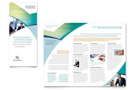 Business Training Tri Fold Brochure Template Design