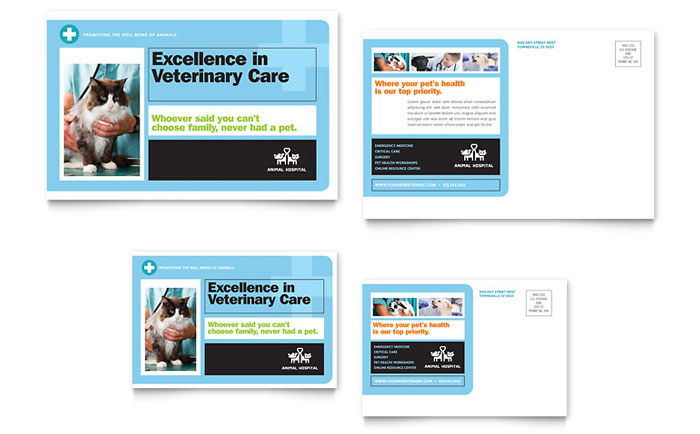 Animal Hospital Postcard Design