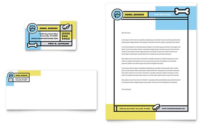 Pet Boarding Business Card Design & Letterhead Design