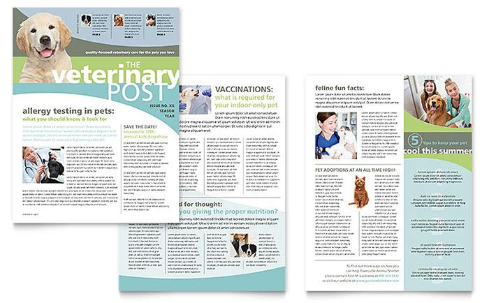 Vet Clinic Newsletter Template Design