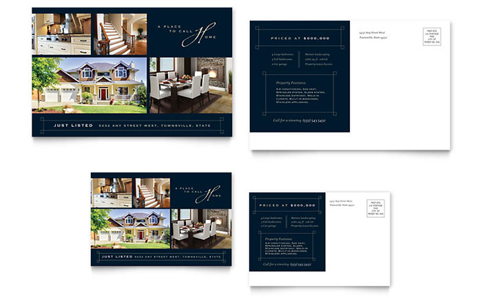 Luxury Home for Sale Real Estate Postcard - Sample Template