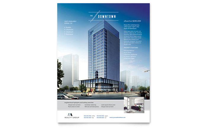Urban Apartment Flyer Design Example