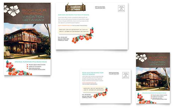 Vacation Rental Real Estate Postcard - Sample Template