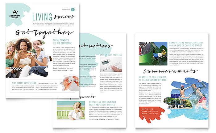 Apartment Newsletter Design Example