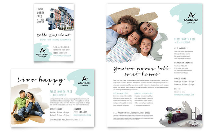 Apartment Flyer Design Example