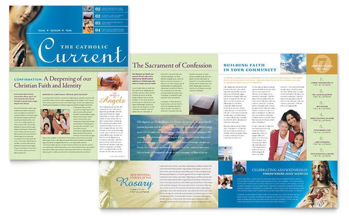 Catholic Parish Bulletin Template