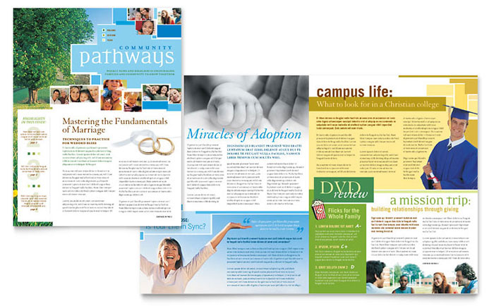 Creative Church Bulletins & Christian Newsletters | Stocklayouts Blog