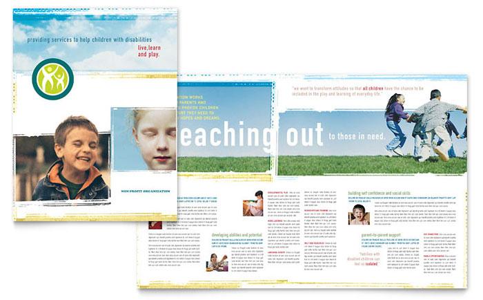 Special Education Brochure Template Design