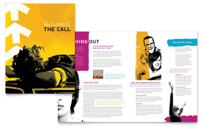 Church Outreach Ministries Brochure Design
