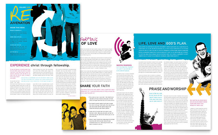 Church School Newsletter Design