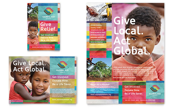 Nonprofit Humanitarian Aid Flyer & Advertisement