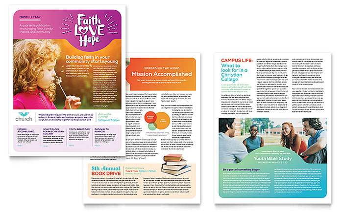 Church Newsletter Design