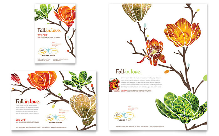 Flower Shop Flyer & Ad Designs