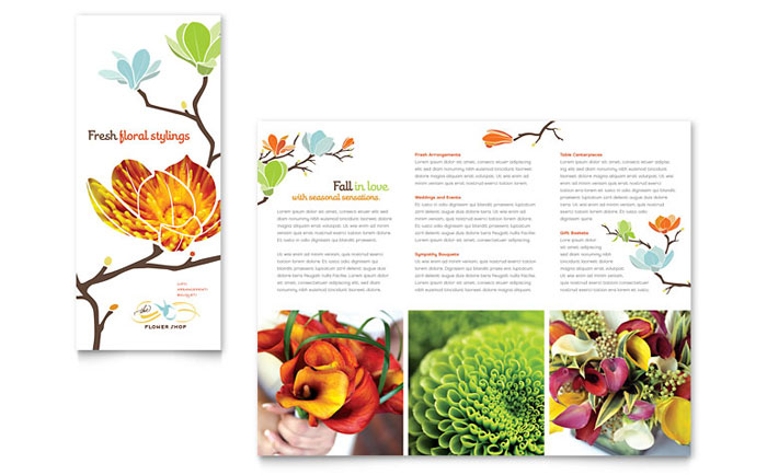 Flower Shop Brochure Design