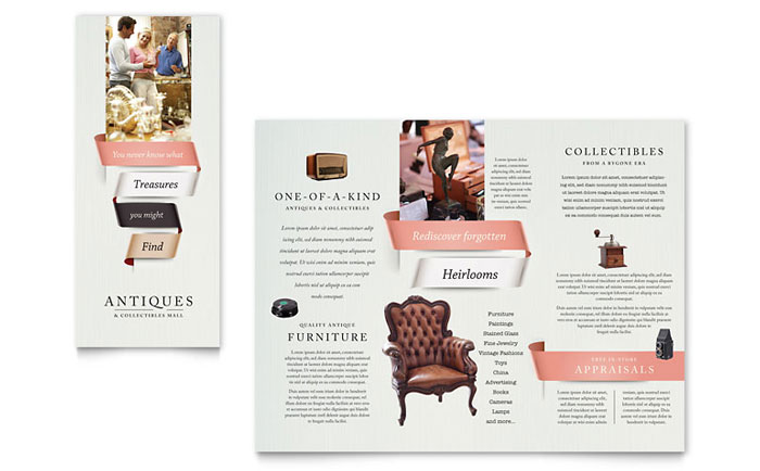 Tri Fold Brochure Sample - Antique Mall
