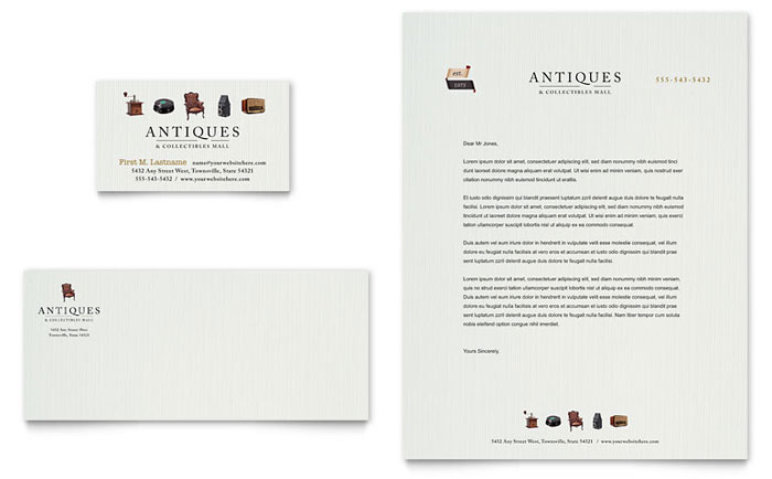 Stationery Sample - Antique Mall