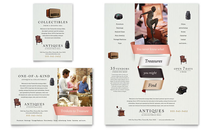 Flyer & Ad Sample - Antique Mall