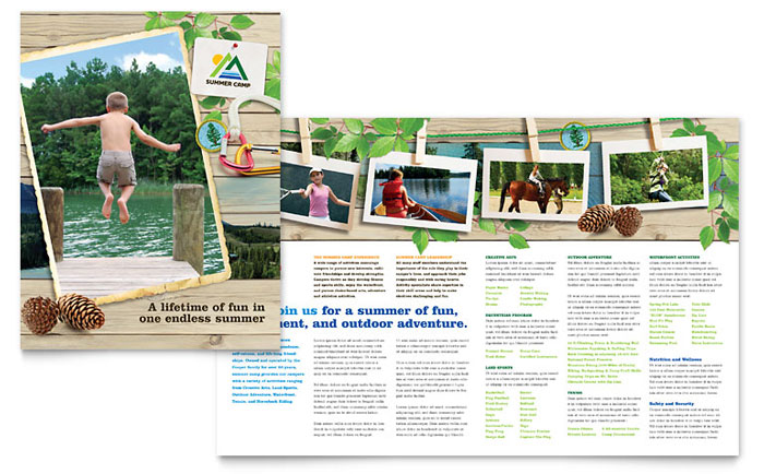 Kids Summer Camp Brochure Design