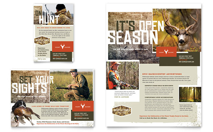 Hunting Guide Flyer & Ad Design
