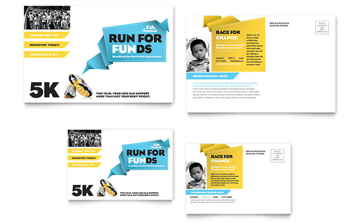 Charity Fun Run Postcard Design